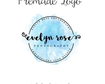 Watercolor Badge Logo, Premade Watercolor Logo, Photography Logo, Designer Logo, Circle Logo, Boho Watercolor Logo, Circular Watercolor Logo