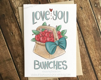 Love You Bunches, Valentine's Day Card, Greeting Card