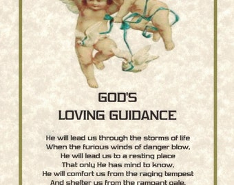 GOD'S LOVING GUIDANCE - An Inspiring Faith Building Poetry Art Print tyhat offers encouragement and inspiration.