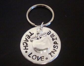 Teacher Key Chain - Teach Love Inspire, Teachers