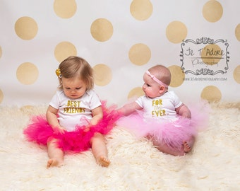 BFF Outfits...Baby Best Friends Outfit...Best Friends Shirts...Twin Girl Outfits...Twin Girl Clothes..Baby Girl Clothes..Best Friends Tutu