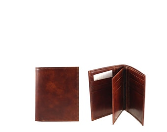 Leather billfold wallet BF G // brown Museum Calf (Italian calf leather) - FREE SHIPPING, unique piece