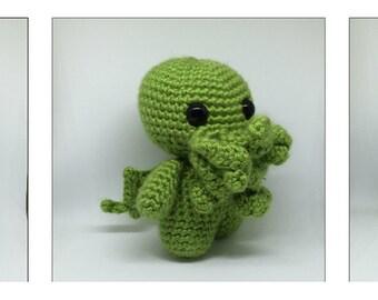 Cutie Amigurumi Cthulhu Plush Crochet Toy