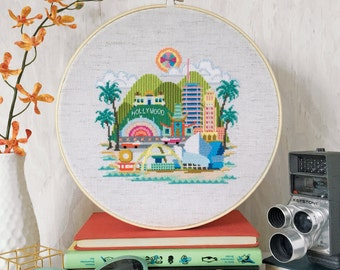 Pretty Little Los Angeles - Satsuma Street Modern Cross Stitch Pattern PDF - Instant download
