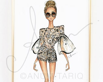 Fashion Illustration Print, Jenny Packham