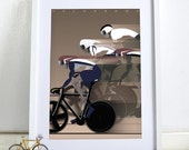 Velodrome Bicycle Bike Cycling Race Poster Wall Art Print Home Décor