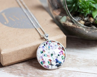 Botanica Silver Necklace And Glass Pendant