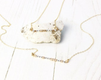 Delicate Morse Code Necklace / 14k Gold Fill & Sterling Silver / Personalised Necklace / Minimalist / Gift For Her