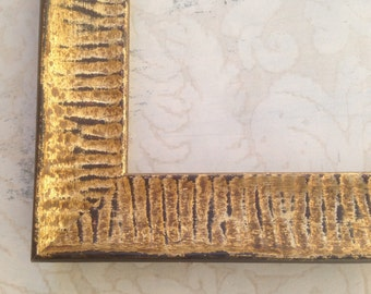 "1.5"" Distressed Gold Picture Frame - 8x8, 8x10, 8.5X11, 10x10, 11x14, 16x20, 18x24, 20x24 Gold Wedding Frame-Diploma Frame"