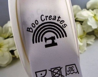 25mm Custom Printed Sew In Loop Labels