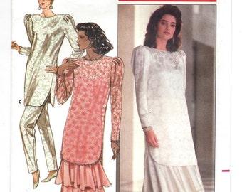 1980s Butterick 5840, Misses' Tunic, Dress & Pants, Richard Warren, UNCUT FF Sewing Pattern, Sizes 8-10-12