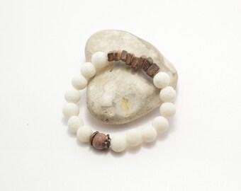 Volcanic stone bracelet, jasper bracelet, coco beads bracelet, beaded bracelet, natural stone bracelet, beaded jewelry, stone jewelry