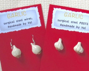 Garlic Earrings and Pin