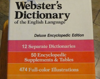 New Webster's Dictionary of the English Language Deluxe Encyclopedic Edition 1971