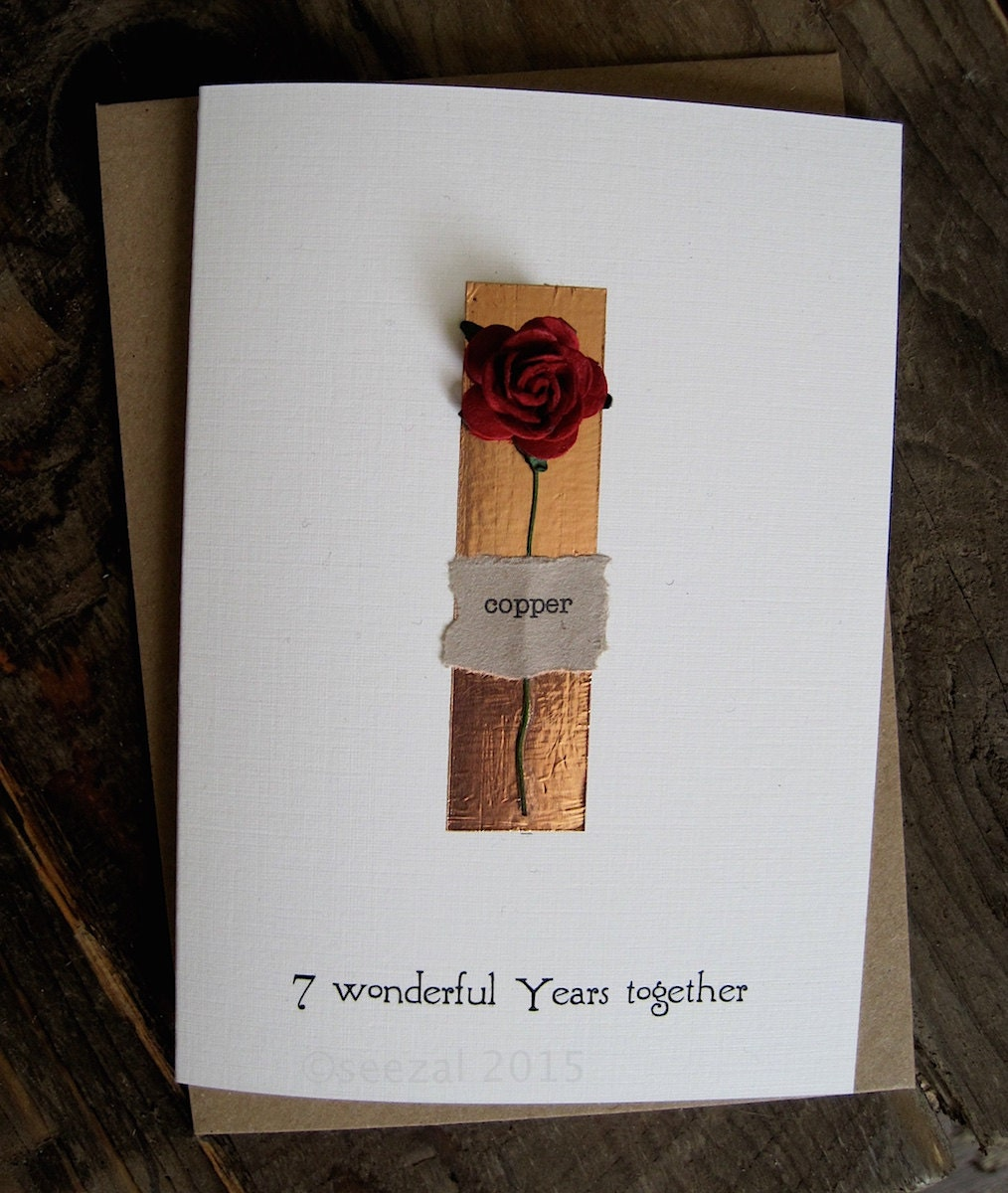 Ideas 7th Year Wedding Anniversary Gift 7th wedding anniversary card ...