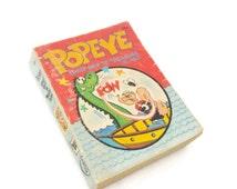 Popeye Ghost Ship To Treasure Island, Olive Oyl, Vintage 1960's Cartoon Books Collectibles, Kids Room Nursery Book Decor, Whitman Big Little