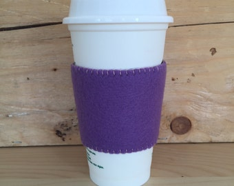 Felt Cup Sleeve - Lavender/Charcoal