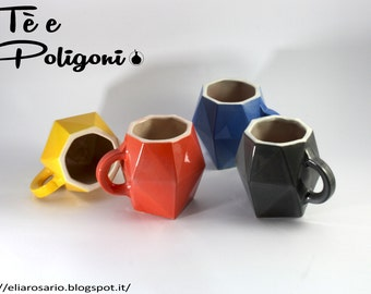 Tea Cup Polygons (pair 2 x 30cl)