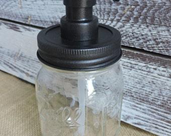 Mason Jar Soap Dispenser, Soap Dispenser, Mason Jar Decor, Home Decor, Rustic Soap Pump, Ball Canning, Rustic Decor, Rustic Home Decor