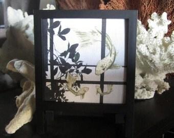 Koi canvas art | Asian inspired decor | gift for her | fantasy digital art | modern Asian art | koi fish print | desktop art | framed art