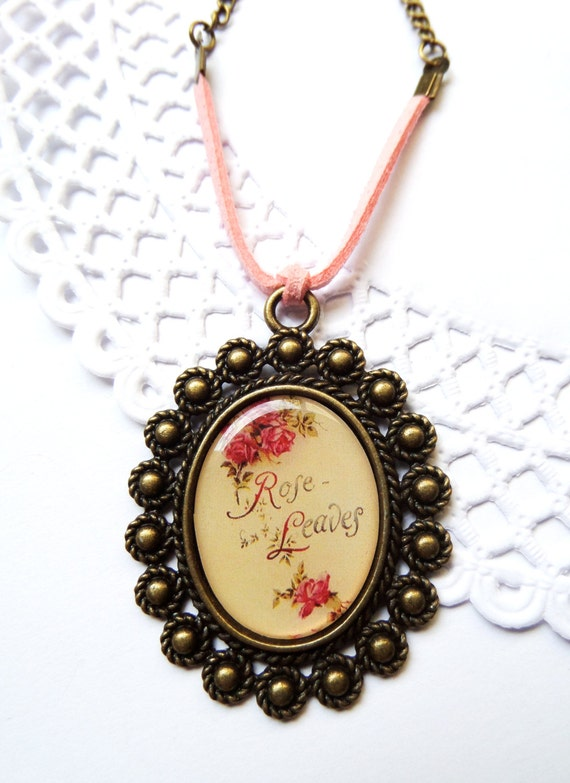 Cameo pendant shabby calligraphy jewelry large cameo by Calligraphy jewelry