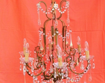 lampadario vintage cristallo lusso, lampadario vetro, lampadario illuminazione, prismi lampadario, lampadario elettrico,Aurora boreale vetro