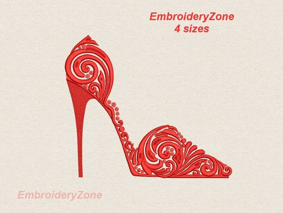 high heel shoe machine embroidery design shoes designs 4