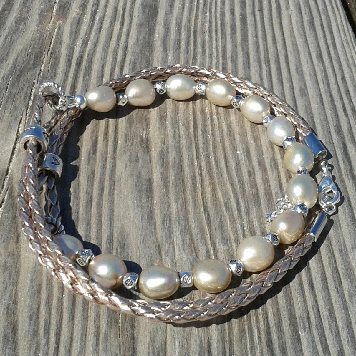 natural pearl necklace multi strand bracelet beaded choker. Black Bedroom Furniture Sets. Home Design Ideas