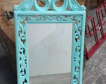 Aqua Accent mirror. Charming for your home decor.