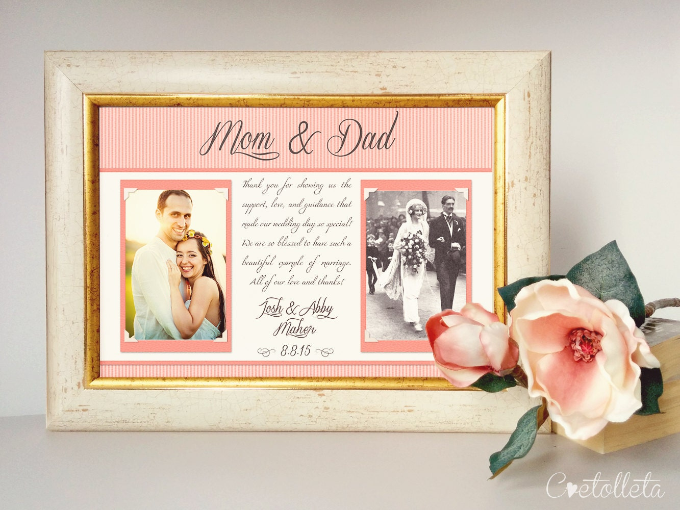 Wedding Gift Bags For Parents : Thank You Parents Wedding Gift Parents Thank You by Cvetolleta