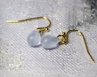 sky blue earrings drop light blue jewelry small earrings gold blue gifts for kids blue dangles gift for daughter small gifts for her пя164