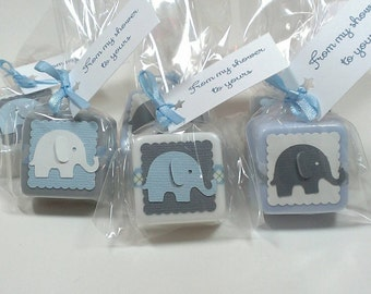 Baby Shower favors, Elephant baby shower favors boy, baby shower favor soaps - Choose your own colors