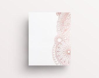 Mandala Print, Henna Design Print, Henna Circle, Henna Pattern Art, Rose Gold Print, Rose Gold Pattern, Mehndi Designs, Mandala Pattern