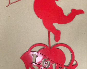 Metal Cupid Love Yard Decoration