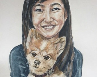 Custom watercolor portrait