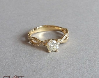 Infinity Engagement Ring, infinity diamond ring , infinity ring, infinity band, wedding ring, wedding band, unique engagement