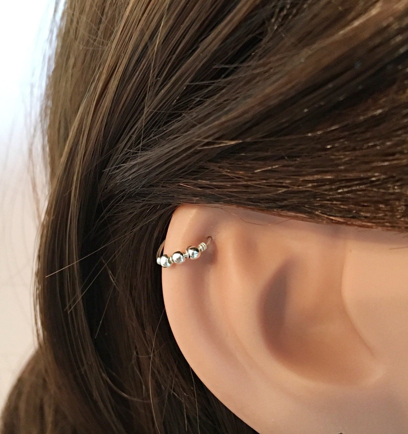 tiny hoop helix ring silver helix earring gold helix helix. Black Bedroom Furniture Sets. Home Design Ideas