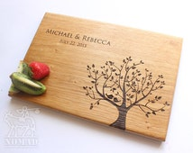 Personalized Cutting Board, Wedding Gift cutting board, Gift for couple Wedding gift, Tree cutting board, Bridal Shower Anniversary Gift