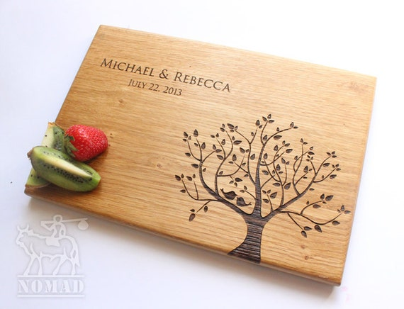 Gifts For Wedding Anniversary For Couple: Personalized Cutting Board Wedding Gift Cutting Board By