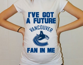 Vancouver Canucks Baby Vancouver Canucks Baby Boy Baby Girl Maternity Shirt Maternity Clothing Pregnancy New Baby Shower