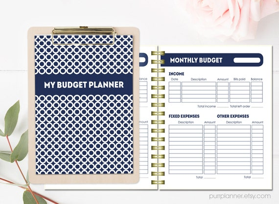 printable budget planner letter size financial organizer