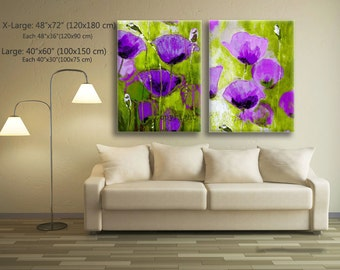Flower Painting, Art Painting, Original Painting, Landscape Painting, Wall Art, Canvas Art, Poppy Painting, Large Flowers for New Home