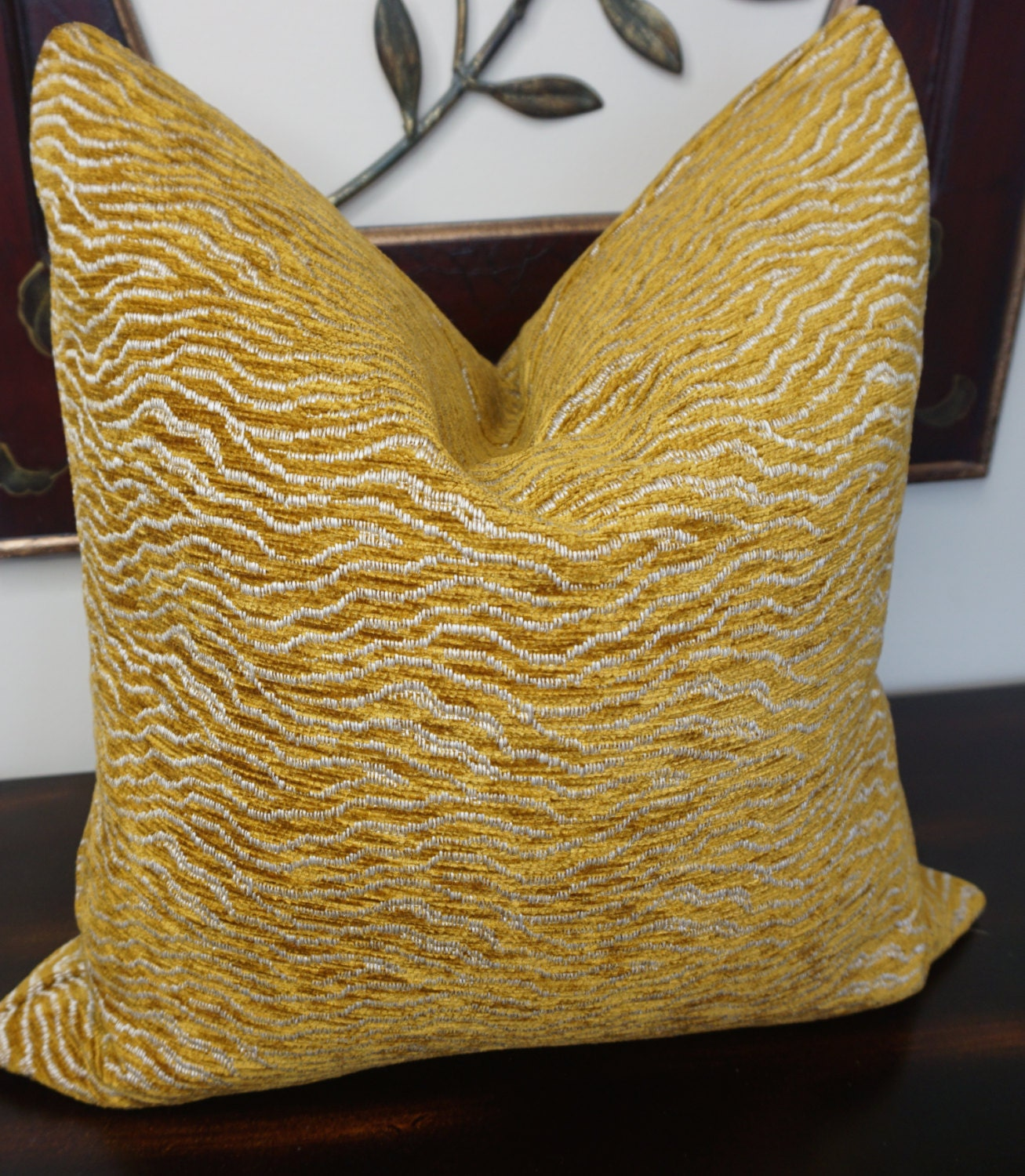 Animal Gold Print Pillow Cover Decorative Chenille Throw