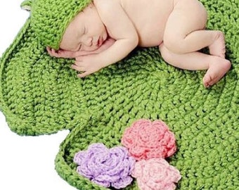 Newborn photo prop Frog and Lily Pad