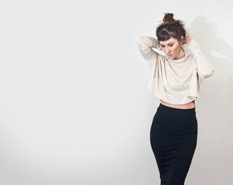 Long Sleeve • Oversized Loose Top • Women's Minimalist Top • Turtle neck • Loft 415 Clothing (No. 215)