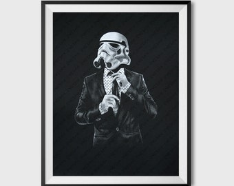 Smart trooper, Star Wars Art Screen printed poster, Storm trooper poster, birthday gift for boyfriend, college student gift, geeky art