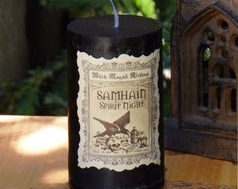 Samhain Spirit Night Witches Candle .  Halloween, Ancestral Workings, Witches New Year