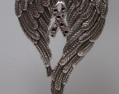 Angel Wings Ornament, Pet Memorial, Humane Society Support, hang in your car, tree ornament, Window Decoration, choose color