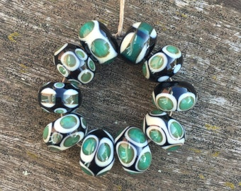 10 handmade lampwork beads (2)