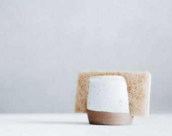 Sponge Holder - White - Ceramics - Pottery